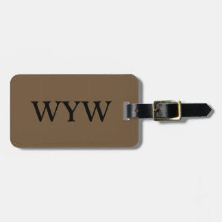 KÖRPER DES CHIC-LUGGAGE/GIFT TAG_39 BROWN ADRESS SCHILD