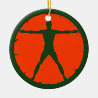 Körper-Verrücktheits-Fitness-Standardgrünes und Keramik Ornament