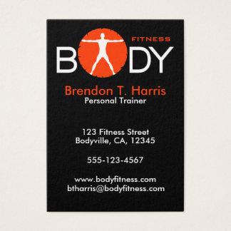 Körper-Verrücktheits-Schwarz-orange großer Visitenkarte