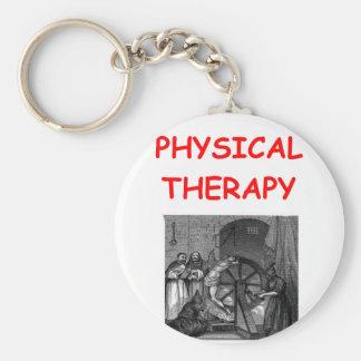 körperliche Therapie Standard Runder Schlüsselanhänger