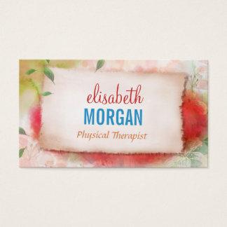 Körperlicher Therapeut - Künstlertums-Aquarell mit Visitenkarten