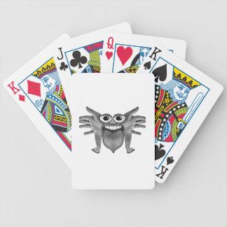 Körperteil-Monster-Illustration Bicycle Spielkarten