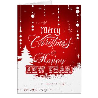 Korporatives rotes weißes frohe Weihnacht-guten Karte