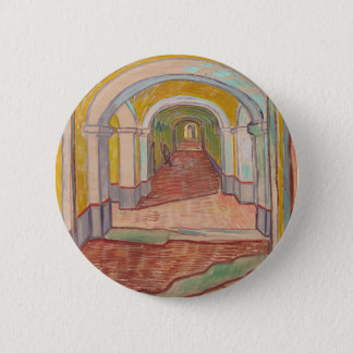 Korridor in St- Paulkrankenhaus Vincent van Gogh Runder Button 5,1 Cm