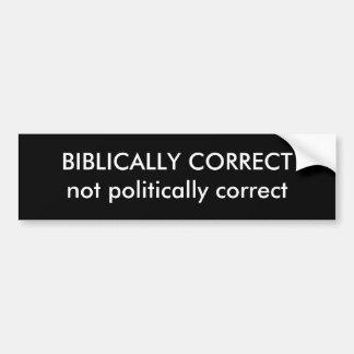 KORRIGIEREN Sie BIBLISCH nicht politisch korrektes Autoaufkleber