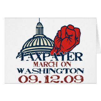 korrigierter Entwurf des Steuerzahlers März Grußkarte