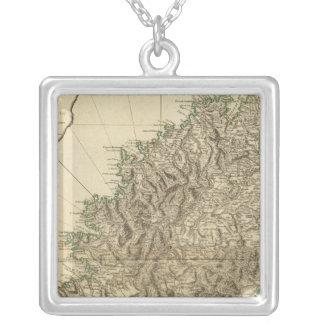 Korsika 2 halskette mit quadratischem anhänger