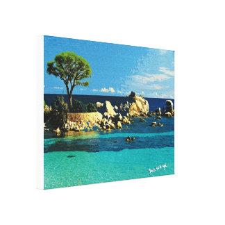 Korsika, andere Sicht von Palombaggia Leinwanddruck