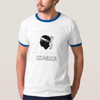 Korsika-Flagge mit Namen T-Shirt