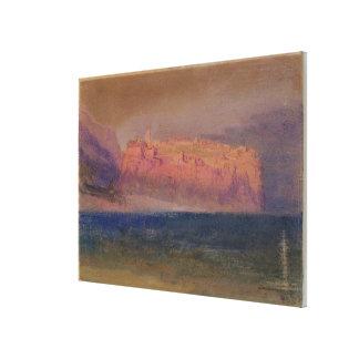 Korsika, (Monaco?) c.1830-35 (w/c auf braunem Papi Leinwanddruck