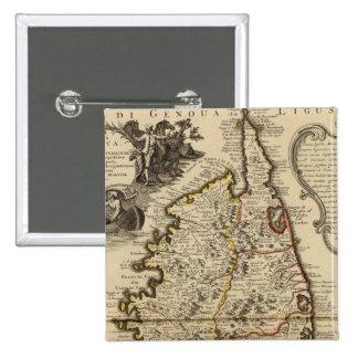 Korsika Quadratischer Button 5,1 Cm
