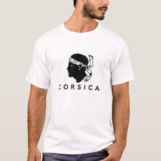 Korsika-Regionsflaggenfrankreich-Landtextname T-Shirt