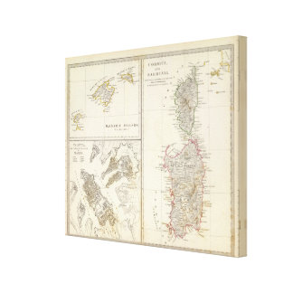 Korsika, Sardinien, die Balearischen Inseln, Valle Galerie Falt Leinwand