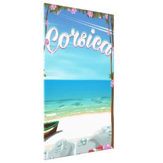 Korsika-Strandreiseplakat Leinwanddrucke