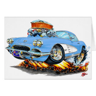Korvette-lt 1961 Blue Car Karte