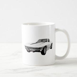 Korvette-Sport-Auto 1967: Weißes Ende: Kaffee Tassen