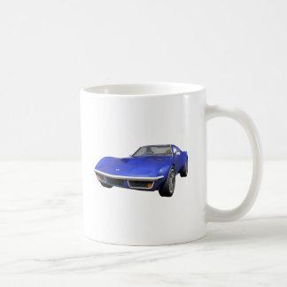 Korvette-Sport-Auto 1970: Blaues Ende Tasse