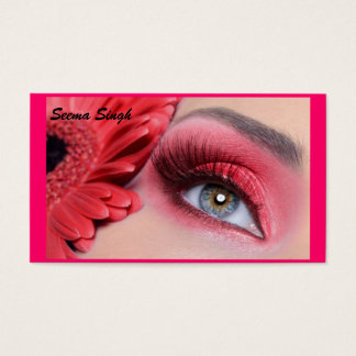 Kosmetikmake-upkünstler-Pfirsich-Blume Visitenkarte