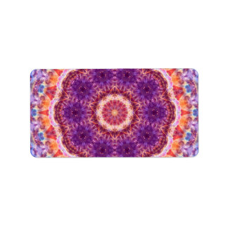 Kosmische Konvergenz-Mandala Adressaufkleber
