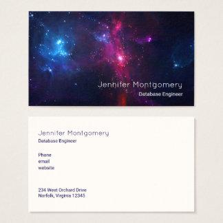 Kosmische Raum-Sterne und Nebelfleck modern Visitenkarte
