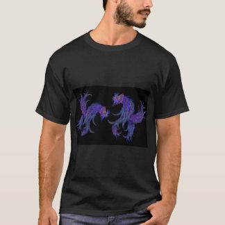 Kosmische siamesische kämpfende Fische T-Shirt