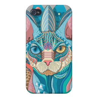 Kosmische Sphynx Katze iPhone 4 Schutzhülle