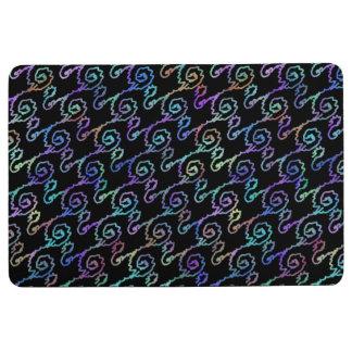 Kosmische Squiggles-Boden-Matte - weicher Bodenmatte