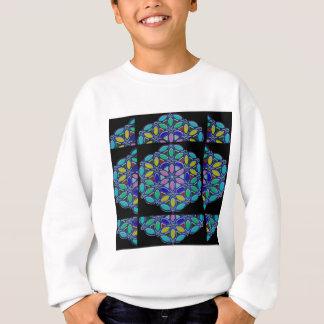 Kosmische Stern-blaue Sweatshirt