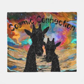 Kosmische Verbindungs-Giraffen-Fleece-Decke Fleecedecke