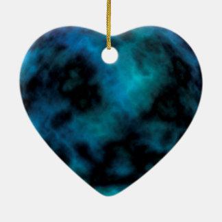 Kosmischer Imitat-Blau-Marmor Keramik Ornament