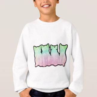 Kosmischer Kätzchen-Regenbogen Sweatshirt