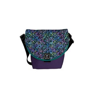 Kosmischer Spitze-Bote-Taschen-Pastell mit Lila Kuriertaschen