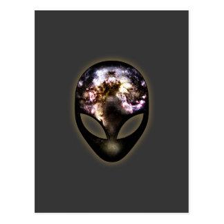 Kosmisches alien postkarte