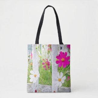Kosmos-Blumen-Garten Tasche