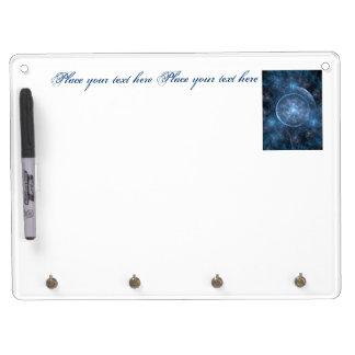 Kosmos-Hintergrund 001 Trockenlöschtafel Mit Schlüsselanhängern