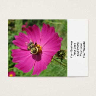 Kosmos-rote Blumen-Biene Visitenkarte