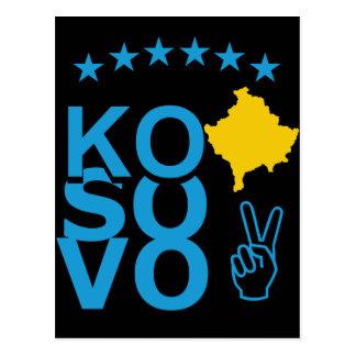 Kosovo-Flagge Postkarte
