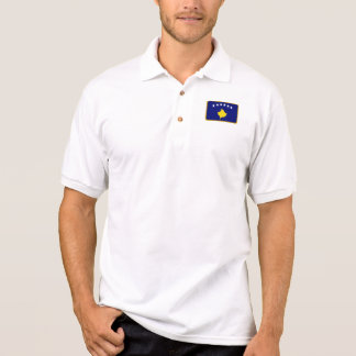 Kosovo-Flaggengolfpolo Poloshirt