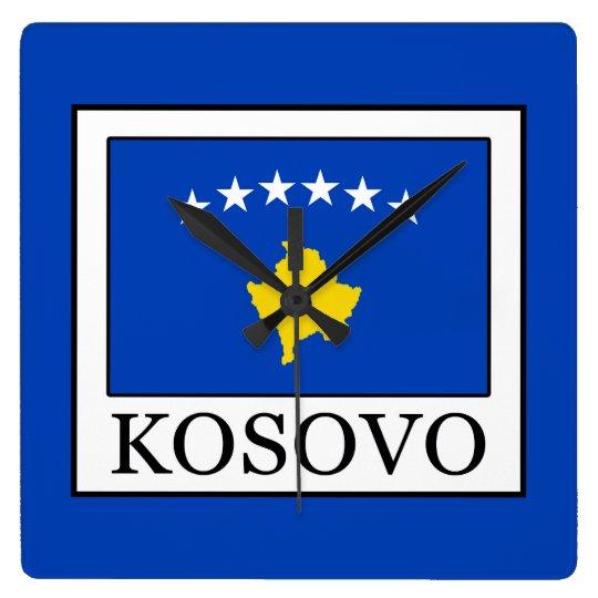 Kosovo Quadratische Wanduhr