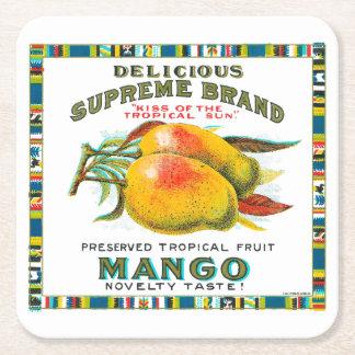 Köstliche Oberste Mango-Konserven Rechteckiger Pappuntersetzer