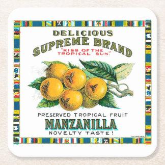 Köstliche Oberste Manzanilla-Konserven Rechteckiger Pappuntersetzer