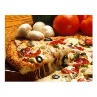 Köstliche Pizza Postkarte