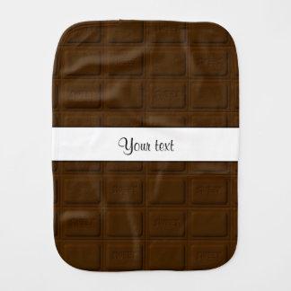 Köstliche Schokoladen-Quadrate Baby Spucktuch