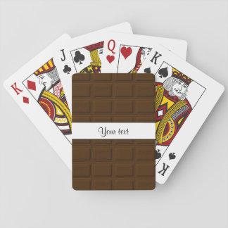 Köstliche Schokoladen-Quadrate Spielkarten