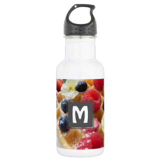 köstliche WaffelhimbeerblaubeerzuckerBlume Edelstahlflasche