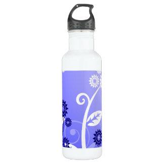 Köstliche Wildblumen-u. Wirble Rebe-lila Blau Edelstahlflasche