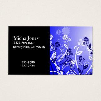 Köstliche Wildblumen-u. Wirble Rebe-lila Blau Visitenkarte