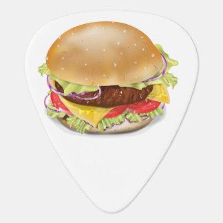 Köstlicher Hamburger oder Cheeseburger Plektrum
