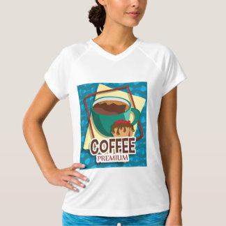 Köstlicher Tasse Kaffee der Illustration mit einem T-Shirt