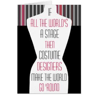 Kostüm-Designer Karte